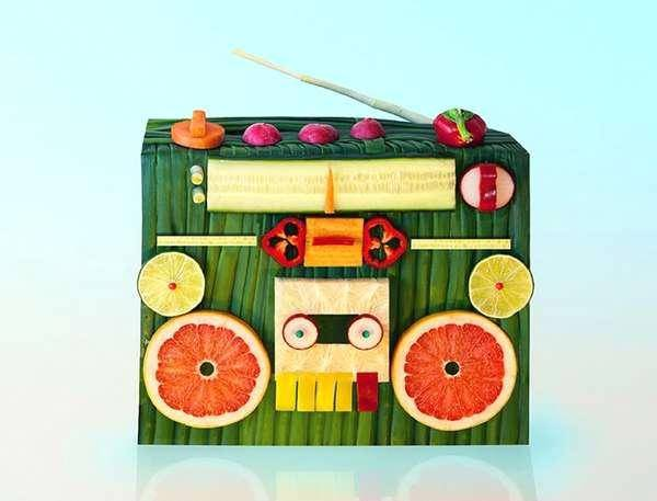 Dan Cretu: images d'art avec des aliments