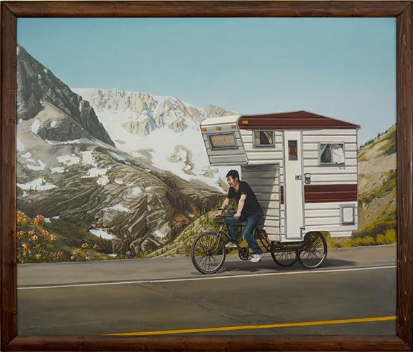 Le mini camping-car-vélo de Kevin Cyr