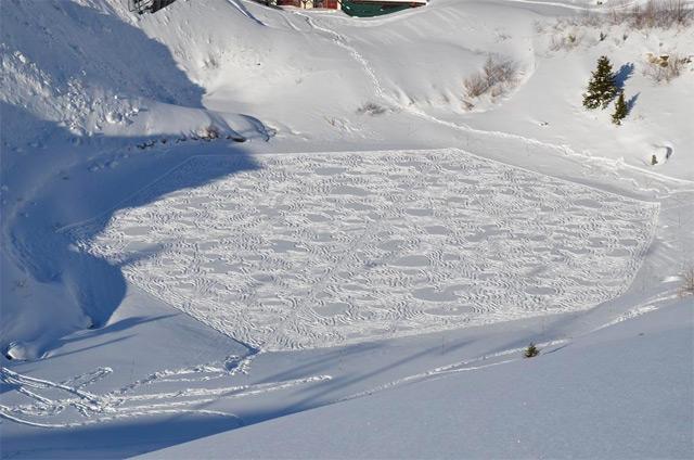 Snow art par Simon Beck
