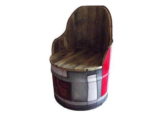 12 r utilisations originales de vieux bidons industriels m talliques. Black Bedroom Furniture Sets. Home Design Ideas