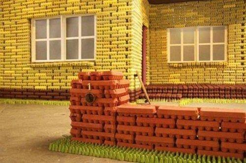 Maisons Fabriques Avec Des Matriaux Rcuprs