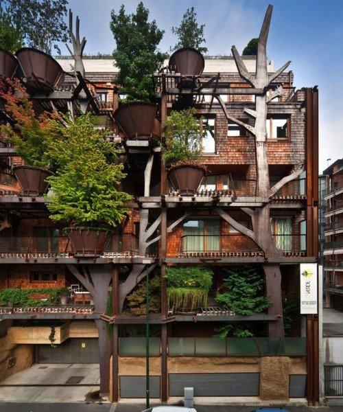Turin un immeuble v g tal qui compte plus de 200 arbres toutvert - Immeuble vegetal ...