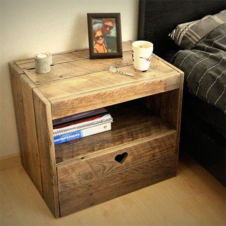 Cagettes et caisses en bois recycl es 10 cr ations originales - Table de nuit originale ...