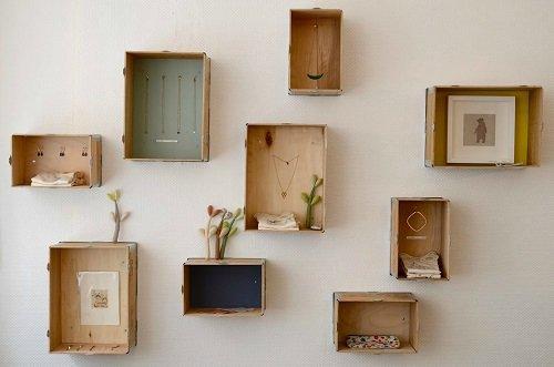 cagettes et caisses en bois recycl es 10 cr ations originales. Black Bedroom Furniture Sets. Home Design Ideas