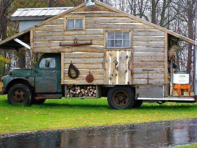 Une cabane sur un camion !