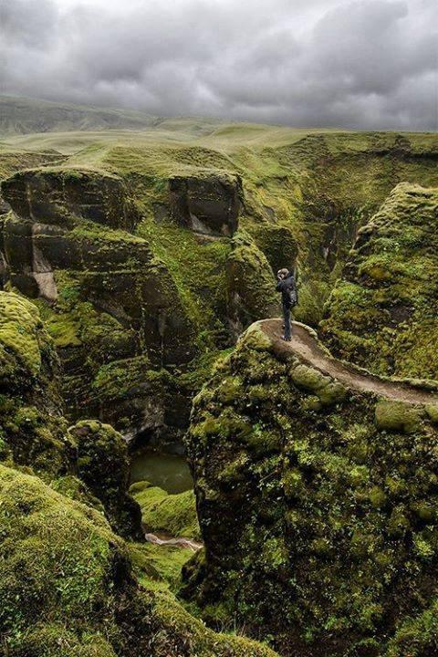 Le canyon Fjaðrárgljúfur en Islande