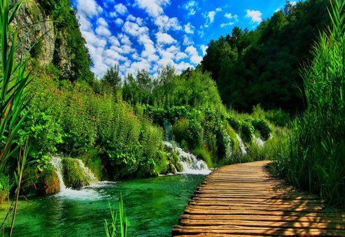 Les lacs de plitvice ou jardin du diable en croatie - Pour arroser un jardin il faut compter 6l ...