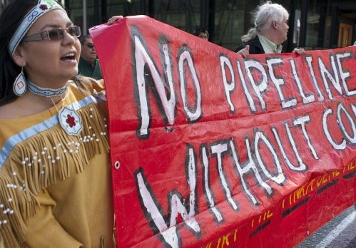 Des tribus amérindiennes disent non à la construction d'un pipeline sur leur terres