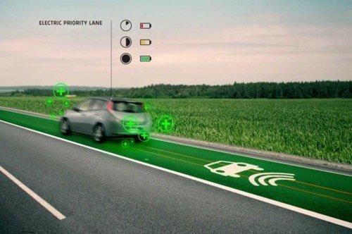 Voiture électrique : recharger la batterie en roulant !