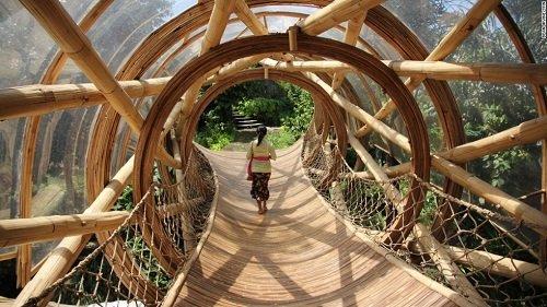 Des maisons écologiques en bambou
