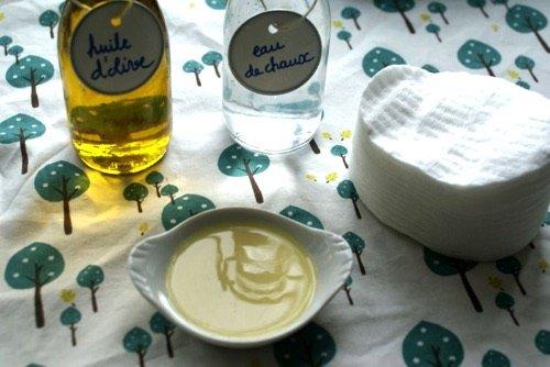 Fabriquez soi-même le lait de toilette ou liniment maison pour bébé