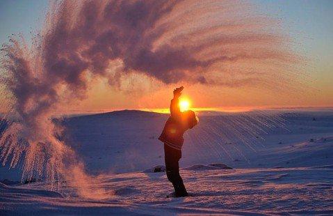 Le coucher du soleil...