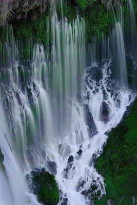 Les magnifiques chutes d'eau...