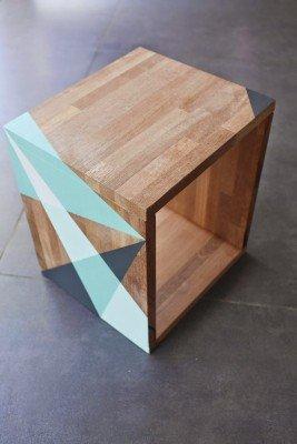 DIY - table de nuit graphique