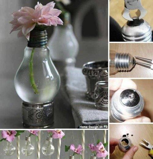 DIY - vase avec une ampoule