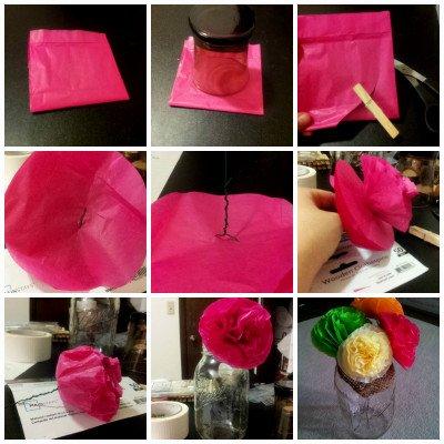 Une jolie fleur en papier de soie