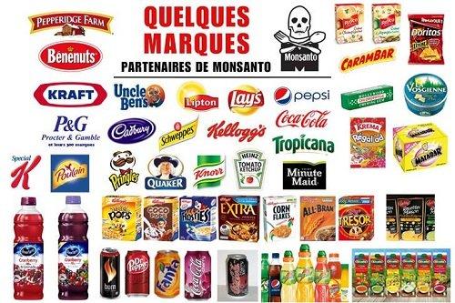 OGM et produits Monsanto : les marques à éviter !
