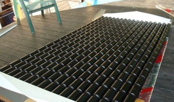 Chauffage écologique : un panneau solaire en canettes d'aluminium!