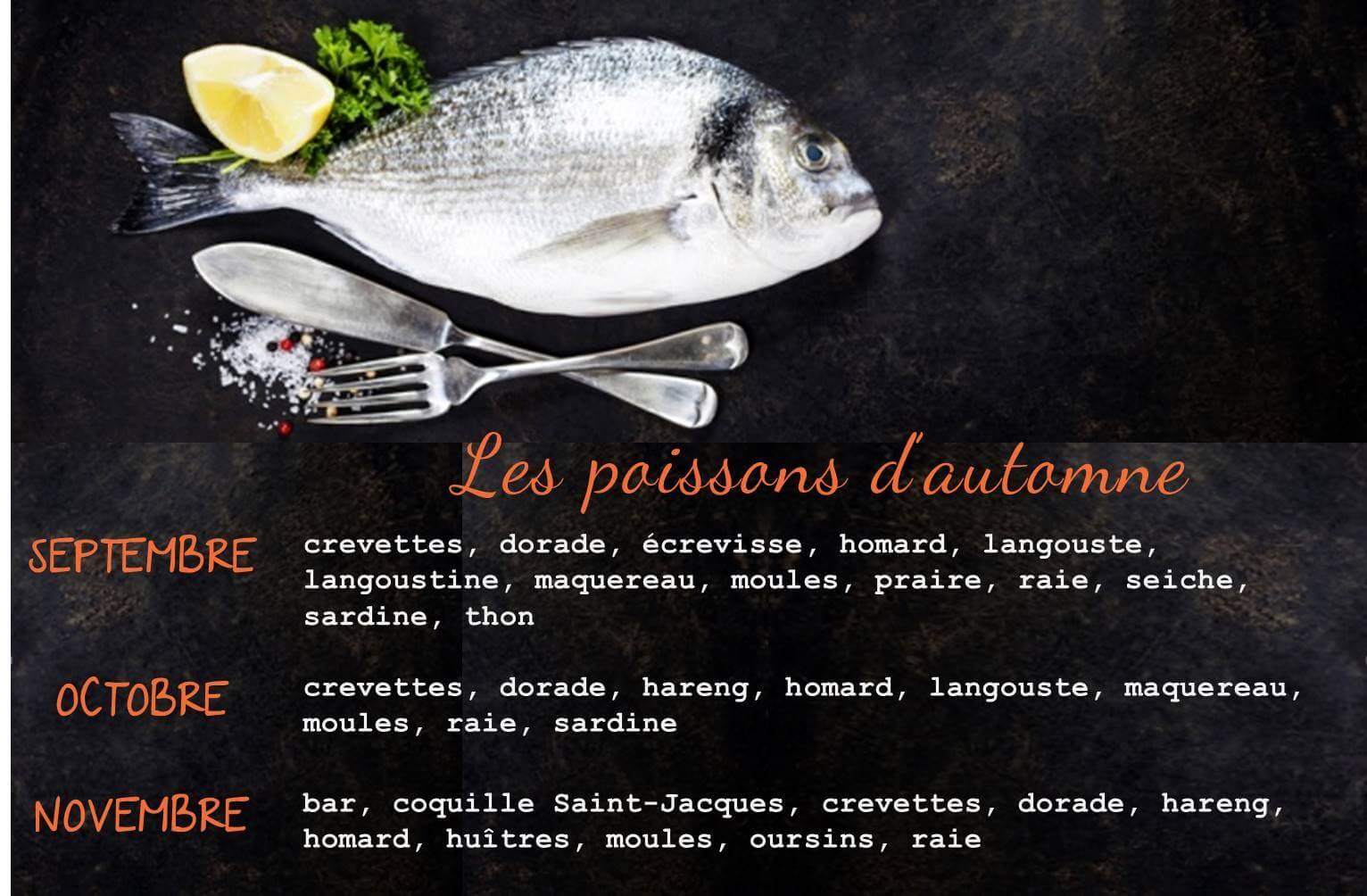 poissons de saison
