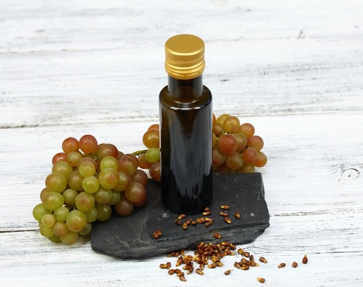 Les vertus de l'huile de pépins de raisin