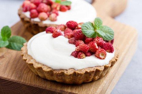Tartelette aux fraises des bois