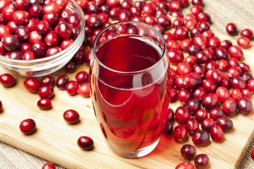 jus de cranberry rouge