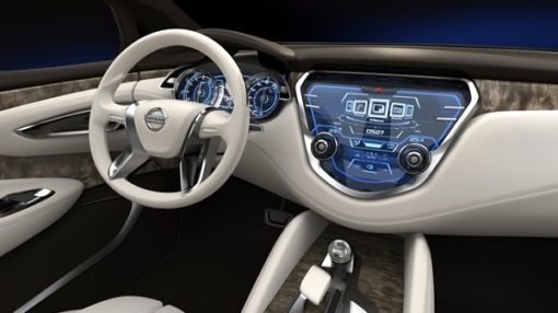 Intérieur de la Nissan Leaf