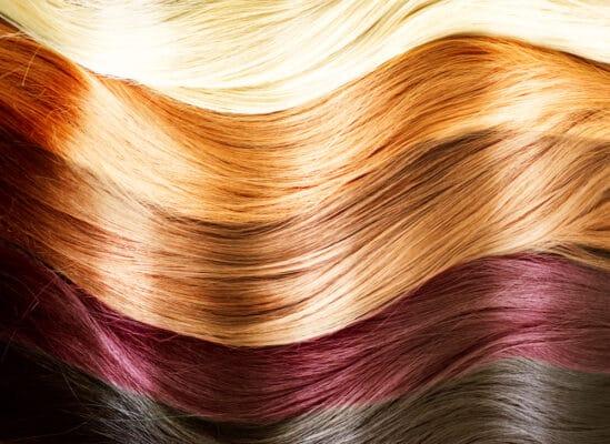 Coloration végétale : mèches de cheveux claires à foncées