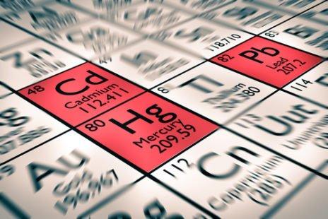 Elément chimique : Cd, numéro atomique 48