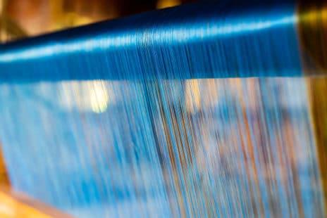 Tissage de ce textile délicat