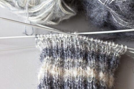 Écharpe chaude au tricot