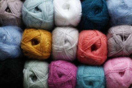 Pelotes de laine à tricoter