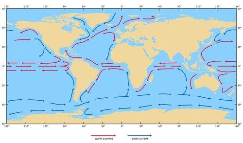 Courants océaniques de surface