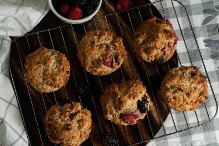 Muffins framboise mûre, tout chauds !