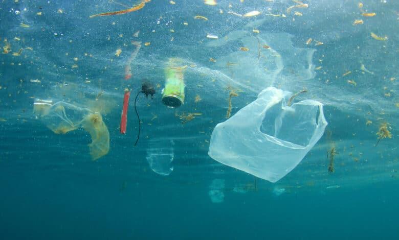 Plastique dans la mer