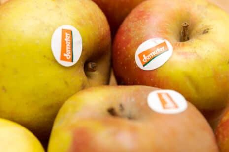 Écolabel Demeter sur des fruits