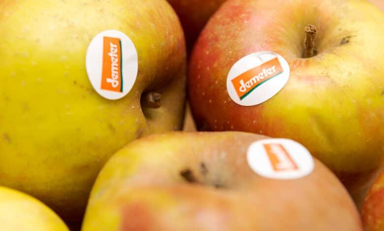 Pommes portant le label Demeter