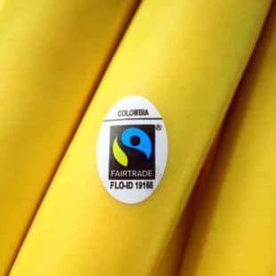 Logo Max Havellar sur une banane