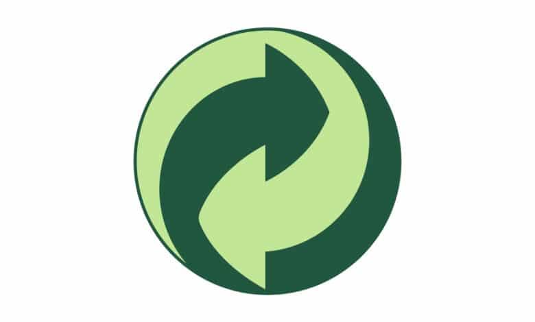 Logo point vert sur fond blanc