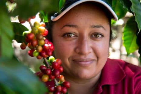 Jeune paysane ayant une exploitation de café