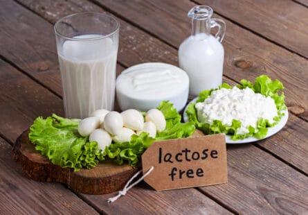 Verre de salit sans lactose, fromage sas lactose, billes de mozzarella sans lactose